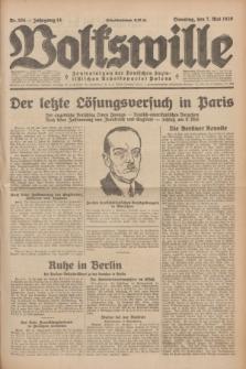 Volkswille : Zentralorgan der Deutschen Sozialistischen Arbeitspartei Polens. Jg.14, Nr. 104 (7 Mai 1929) + dod.