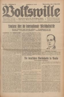 Volkswille : Zentralorgan der Deutschen Sozialistischen Arbeitspartei Polens. Jg.14, Nr. 106 (9 Mai 1929) + dod.