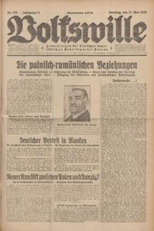Volkswille : Zentralorgan der Deutschen Sozialistischen Arbeitspartei Polens. Jg.14, Nr. 108 (12 Mai 1929) + dod.