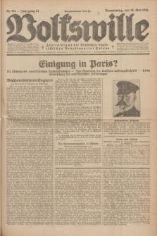 Volkswille : Zentralorgan der Deutschen Sozialistischen Arbeitspartei Polens. Jg.14, Nr. 111 (16 Mai 1929) + dod.