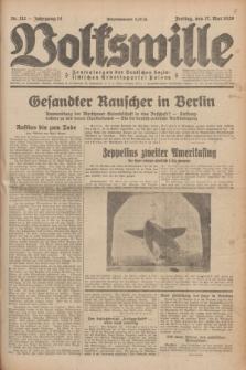 Volkswille : Zentralorgan der Deutschen Sozialistischen Arbeitspartei Polens. Jg.14, Nr. 112 (17 Mai 1929) + dod.