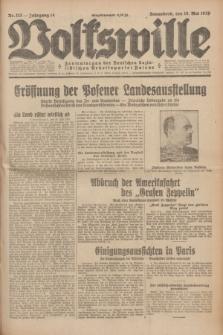 Volkswille : Zentralorgan der Deutschen Sozialistischen Arbeitspartei Polens. Jg.14, Nr. 113 (18 Mai 1929) + dod.