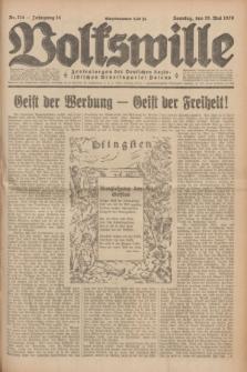 Volkswille : Zentralorgan der Deutschen Sozialistischen Arbeitspartei Polens. Jg.14, Nr. 114 (19 Mai 1929) + dod.