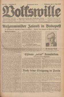 Volkswille : Zentralorgan der Deutschen Sozialistischen Arbeitspartei Polens. Jg.14, Nr. 115 (22 Mai 1929) + dod.