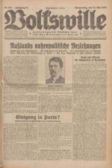 Volkswille : Zentralorgan der Deutschen Sozialistischen Arbeitspartei Polens. Jg.14, Nr. 116 (23 Mai 1929) + dod.