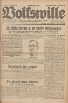 Volkswille : Zentralorgan der Deutschen Sozialistischen Arbeitspartei Polens. Jg.14, Nr. 118 (25 Mai 1929) + dod.