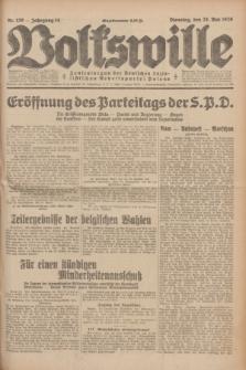 Volkswille : Zentralorgan der Deutschen Sozialistischen Arbeitspartei Polens. Jg.14, Nr. 120 (28 Mai 1929) + dod.