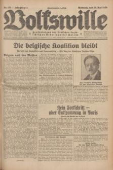 Volkswille : Zentralorgan der Deutschen Sozialistischen Arbeitspartei Polens. Jg.14, Nr. 121 (29 Mai 1929) + dod.