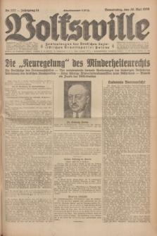 Volkswille : Zentralorgan der Deutschen Sozialistischen Arbeitspartei Polens. Jg.14, Nr. 122 (30 Mai 1929) + dod.