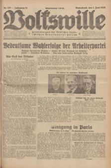 Volkswille : Zentralorgan der Deutschen Sozialistischen Arbeitspartei Polens. Jg.14, Nr. 123 (1 Juni 1929) + dod.