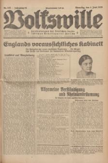 Volkswille : Zentralorgan der Deutschen Sozialistischen Arbeitspartei Polens. Jg.14, Nr. 125 (4 Juni 1929) + dod.