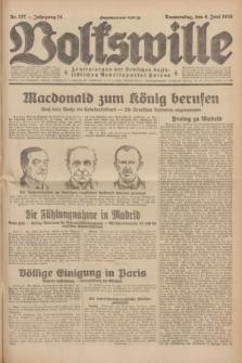 Volkswille : Zentralorgan der Deutschen Sozialistischen Arbeitspartei Polens. Jg.14, Nr. 127 (6 Juni 1929) + dod.