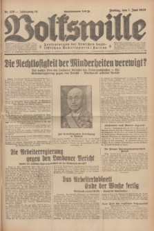 Volkswille : Zentralorgan der Deutschen Sozialistischen Arbeitspartei Polens. Jg.14, Nr. 128 (7 Juni 1929) + dod.