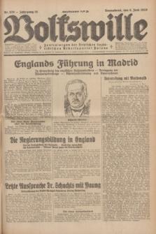 Volkswille : Zentralorgan der Deutschen Sozialistischen Arbeitspartei Polens. Jg.14, Nr. 129 (8 Juni 1929) + dod.