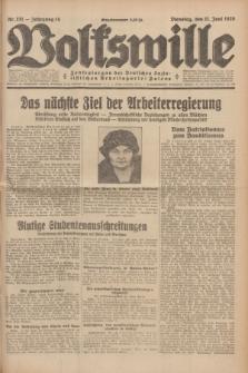 Volkswille : Zentralorgan der Deutschen Sozialistischen Arbeitspartei Polens. Jg.14, Nr. 131 (11 Juni 1929) + dod.