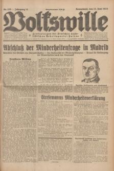 Volkswille : Zentralorgan der Deutschen Sozialistischen Arbeitspartei Polens. Jg.14, Nr. 135 (15 Juni 1929) + dod.