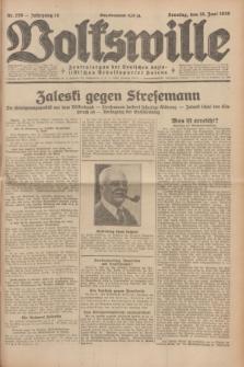 Volkswille : Zentralorgan der Deutschen Sozialistischen Arbeitspartei Polens. Jg.14, Nr. 136 (16 Juni 1929) + dod.