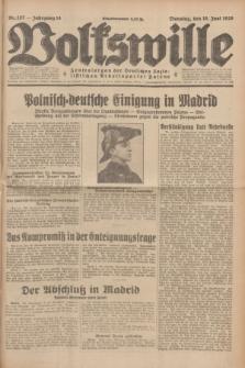 Volkswille : Zentralorgan der Deutschen Sozialistischen Arbeitspartei Polens. Jg.14, Nr. 137 (18 Juni 1929) + dod.