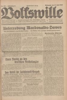 Volkswille : Zentralorgan der Deutschen Sozialistischen Arbeitspartei Polens. Jg.14, Nr. 138 (19 Juni 1929) + dod.