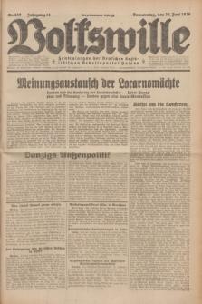 Volkswille : Zentralorgan der Deutschen Sozialistischen Arbeitspartei Polens. Jg.14, Nr. 139 (20 Juni 1929) + dod.