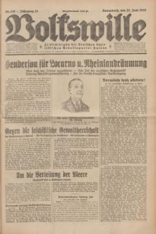 Volkswille : Zentralorgan der Deutschen Sozialistischen Arbeitspartei Polens. Jg.14, Nr. 141 (22 Juni 1929) + dod.