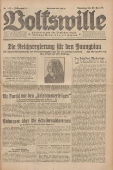 Volkswille : Zentralorgan der Deutschen Sozialistischen Arbeitspartei Polens. Jg.14, Nr. 142 (23 Juni 1929) + dod.