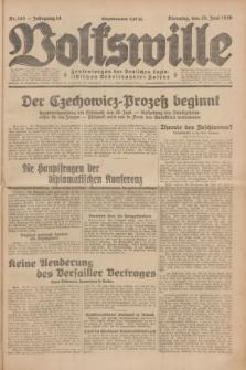 Volkswille : Zentralorgan der Deutschen Sozialistischen Arbeitspartei Polens. Jg.14, Nr. 143 (25 Juni 1929) + dod.