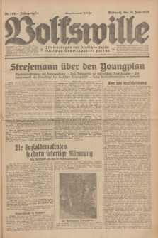 Volkswille : Zentralorgan der Deutschen Sozialistischen Arbeitspartei Polens. Jg.14, Nr. 144 (26 Juni 1929) + dod.