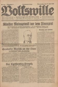 Volkswille : Zentralorgan der Deutschen Sozialistischen Arbeitspartei Polens. Jg.14, Nr. 145 (27 Juni 1929) + dod.