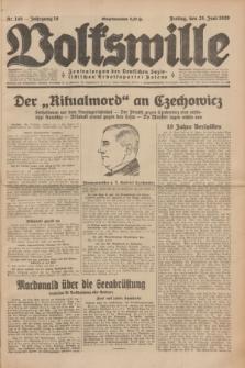 Volkswille : Zentralorgan der Deutschen Sozialistischen Arbeitspartei Polens. Jg.14, Nr. 146 (28 Juni 1929) + dod.