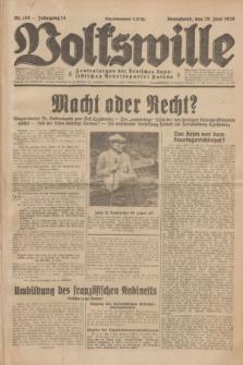 Volkswille : Zentralorgan der Deutschen Sozialistischen Arbeitspartei Polens. Jg.14, Nr. 147 (29 Juni 1929) + dod.