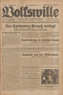 Volkswille : Zentralorgan der Deutschen Sozialistischen Arbeitspartei Polens. Jg.14, Nr. 148 (2 Juli 1929) + dod.