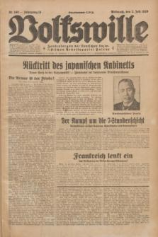 Volkswille : Zentralorgan der Deutschen Sozialistischen Arbeitspartei Polens. Jg.14, Nr. 149 (3 Juli 1929) + dod.
