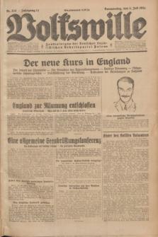 Volkswille : Zentralorgan der Deutschen Sozialistischen Arbeitspartei Polens. Jg.14, Nr. 150 (4 Juli 1929) + dod.