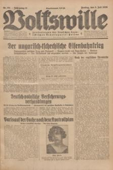 Volkswille : Zentralorgan der Deutschen Sozialistischen Arbeitspartei Polens. Jg.14, Nr. 151 (5 Juli 1929) + dod.