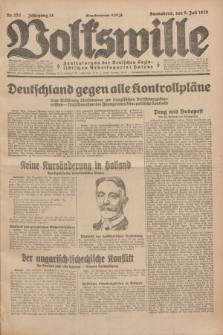 Volkswille : Zentralorgan der Deutschen Sozialistischen Arbeitspartei Polens. Jg.14, Nr. 152 (6 Juli 1929) + dod.