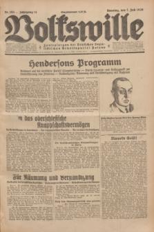 Volkswille : Zentralorgan der Deutschen Sozialistischen Arbeitspartei Polens. Jg.14, Nr. 153 (7 Juli 1929) + dod.