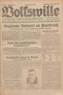 Volkswille : Zentralorgan der Deutschen Sozialistischen Arbeitspartei Polens. Jg.14, Nr. 154 (9 Juli 1929) + dod.