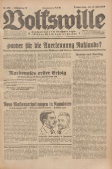 Volkswille : Zentralorgan der Deutschen Sozialistischen Arbeitspartei Polens. Jg.14, Nr. 156 (11 Juli 1929) + dod.