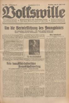 Volkswille : Zentralorgan der Deutschen Sozialistischen Arbeitspartei Polens. Jg.14, Nr. 159 (14 Juli 1929) + dod.