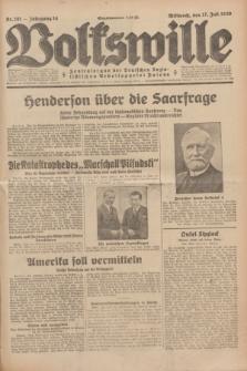 Volkswille : Zentralorgan der Deutschen Sozialistischen Arbeitspartei Polens. Jg.14, Nr. 161 (17 Juli 1929) + dod.