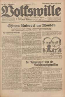 Volkswille : Zentralorgan der Deutschen Sozialistischen Arbeitspartei Polens. Jg.14, Nr. 162 (18 Juli 1929) + dod.