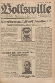 Volkswille : Zentralorgan der Deutschen Sozialistischen Arbeitspartei Polens. Jg.14, Nr. 165 (21 Juli 1929) + dod.