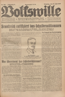 Volkswille : Zentralorgan der Deutschen Sozialistischen Arbeitspartei Polens. Jg.14, Nr. 166 (23 Juli 1929) + dod.