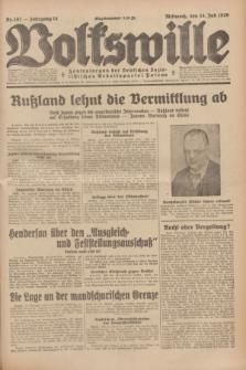 Volkswille : Zentralorgan der Deutschen Sozialistischen Arbeitspartei Polens. Jg.14, Nr. 167 (24 Juli 1929) + dod.