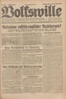 Volkswille : Zentralorgan der Deutschen Sozialistischen Arbeitspartei Polens. Jg.14, Nr. 168 (25 Juli 1929) + dod.