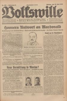 Volkswille : Zentralorgan der Deutschen Sozialistischen Arbeitspartei Polens. Jg.14, Nr. 169 (26 Juli 1929) + dod.