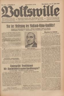 Volkswille : Zentralorgan der Deutschen Sozialistischen Arbeitspartei Polens. Jg.14, Nr. 170 (27 Juli 1929) + dod.
