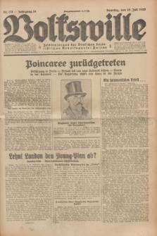 Volkswille : Zentralorgan der Deutschen Sozialistischen Arbeitspartei Polens. Jg.14, Nr. 171 (28 Juli 1929) + dod.