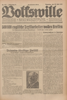 Volkswille : Zentralorgan der Deutschen Sozialistischen Arbeitspartei Polens. Jg.14, Nr. 172 (30 Juli 1929) + dod.